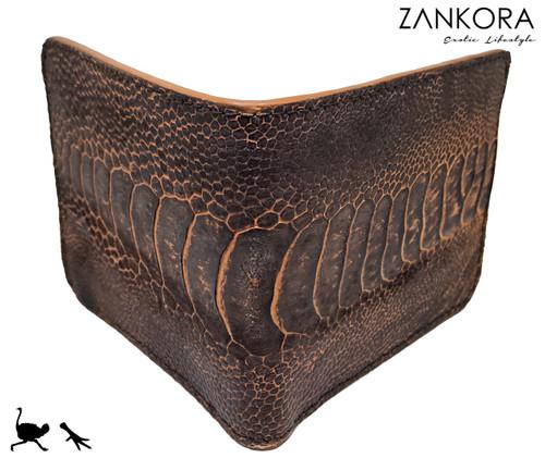 Ostrich Skin Wallet by ZANKORA