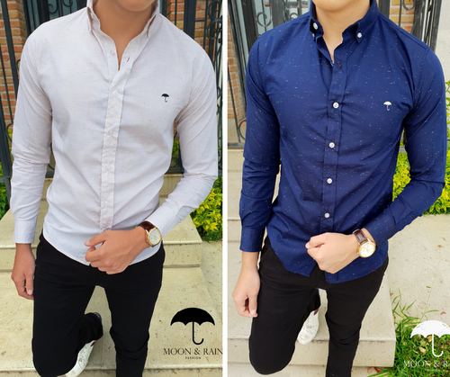 Slim Fit Shirt Threads Pattern by Moon & Rain
