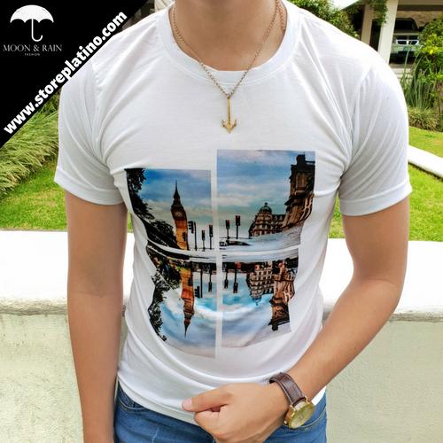 White T-Shirt London by Moon & Rain