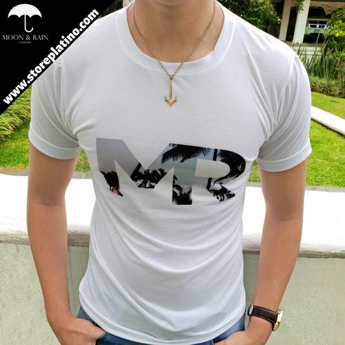 White T-Shirt MR  by Moon & Rain
