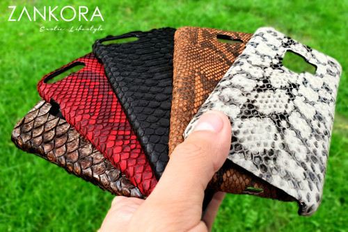 Custom Leather Python Phone Case by ZANKORA