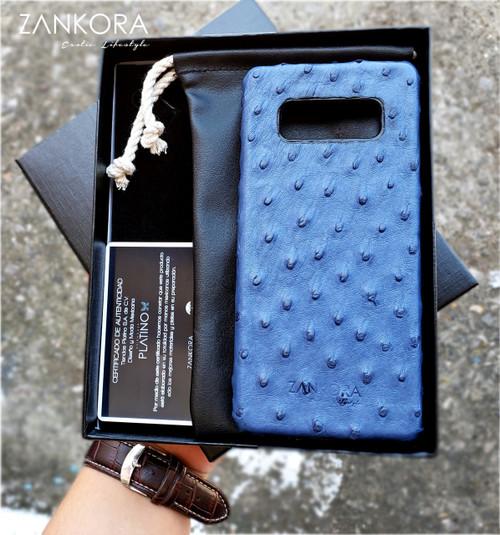 Personalized Ostrich Leather Phone Case by ZANKORA