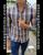 Plaid Slim Fit Shirt Brown/Blue/Gray by Moon & Rain