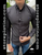 Gray Slim Fit Shirt With Pattern by Moon & Rain
