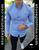 Men's Light Blue Slim Fit Dress Shirt  by Moon & Rain