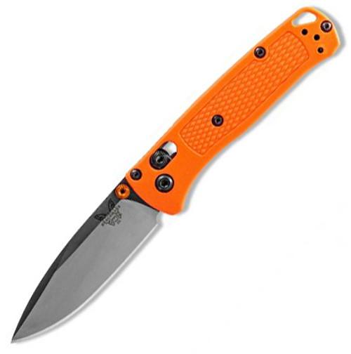 "Benchmade Mini Bugout Folding Knife AXIS Lock Orange Grivory [2.82"" Satin S30V] 533"