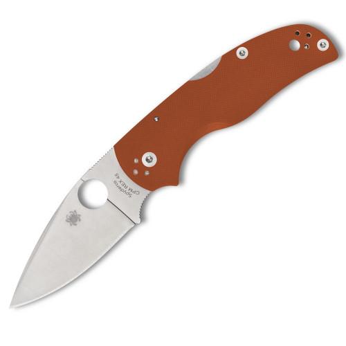 """Spyderco Sprint run Native 5 Folding Knife Lockback Orange G-10 [3.00"""" Satin REX 45] C41GPBORE"""