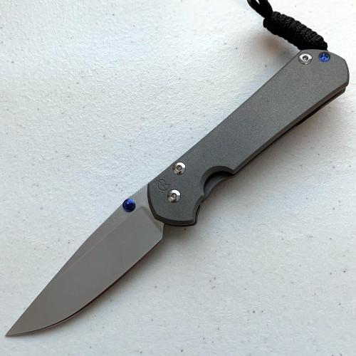 "CRK Small Sebenza 31 Manual Knife (Plain Handle) [2.99"" Plain Stonewash] Drop Point"