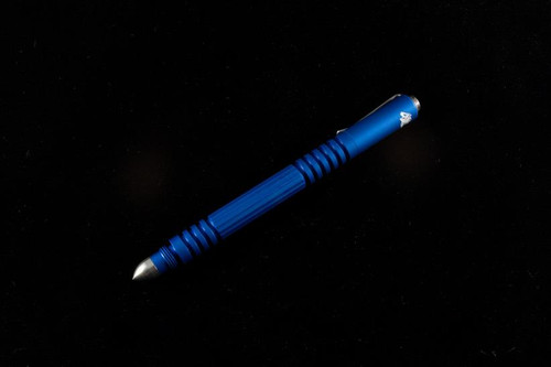 Hinderer Knives Investigator Tactical Pen Matte Blue Aluminum P58010A4BLA