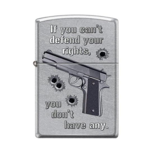 If You Can't Defend Your Rights Zippo