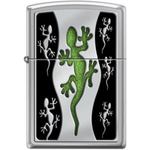 Green Lizard Zippo