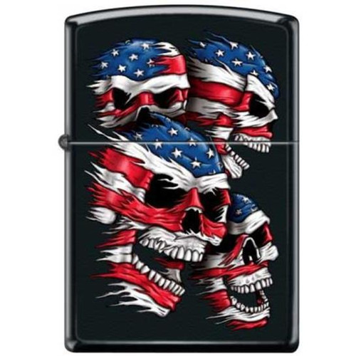 Flag Skulls Zippo