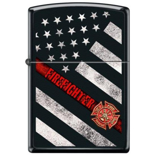 Firefighter Thin Red Line Flag Zippo