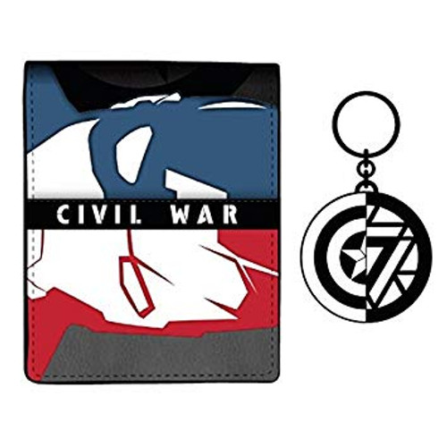 Captain America Civil War Bi-Fold Wallet w/ Keychain