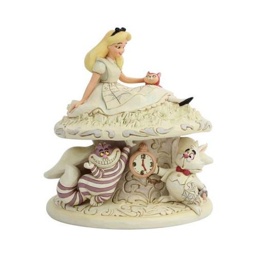 Disney Alice in Wonderland White Woodland Statue Jim Shore