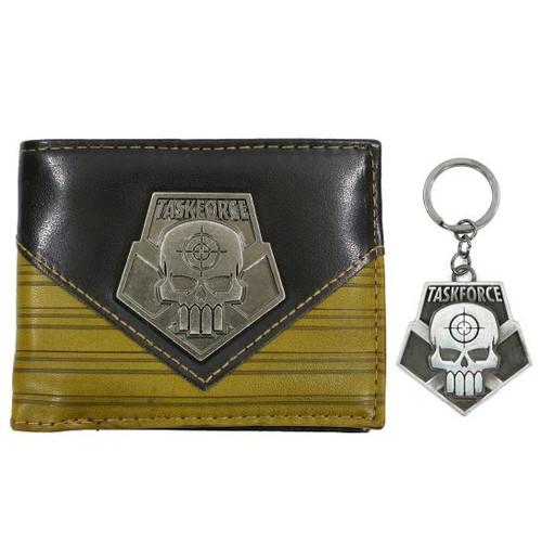 Suicide Squad Taskforce Bi-Fold Wallet w/ Keychain