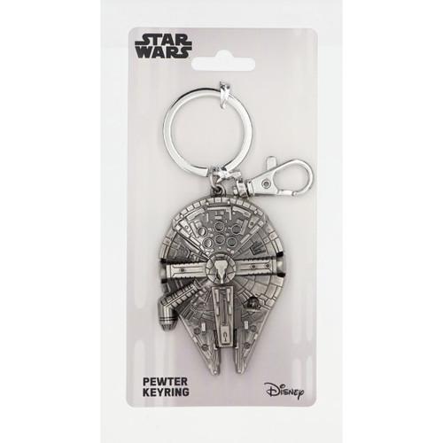 Pewter Key Chain - Millennium Falcon Star Wars