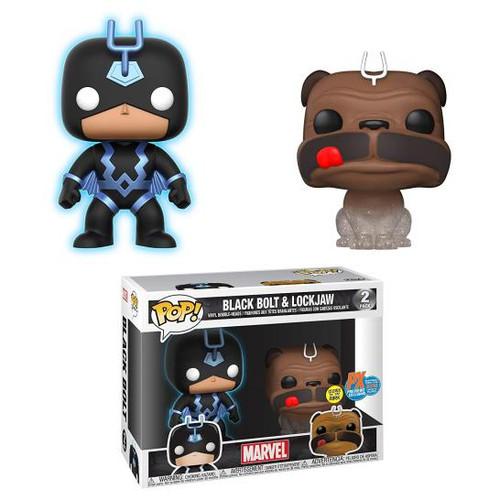 Pop! Marvel's Inhumans Black Bolt & Lockjaw Glow In Dark Vinyl Figure PX Exclusive