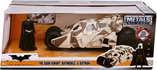 Model Car - 1:24 The Dark Knight Camo Version 2008 - Batmobile & Batman