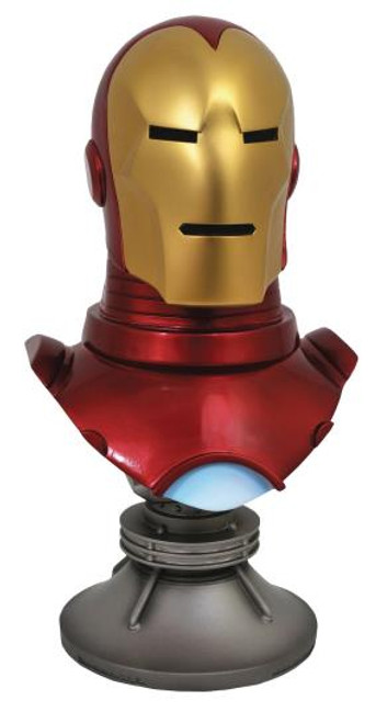 LEGENDS IN 3D MARVEL COMIC IRON MAN 1/2 SCALE BUST