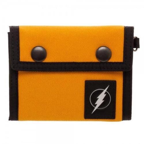 Flash Orange Tri-Fold Wallet