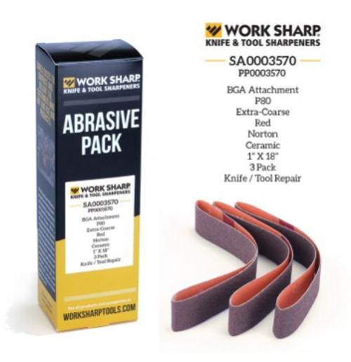 P80 Ceramic Abrasive Belt (Blade Grinding Attachment) Work Sharp