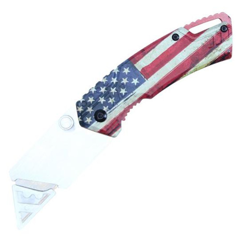 "WARTECH 7"" BOX CUTTER (AMERICAN FLAG)"