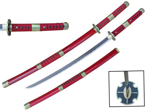 Zoro Handmade Anime Sword (RED) Hand Forge 1045