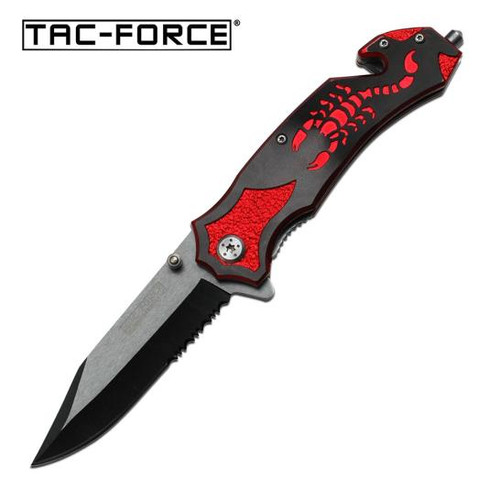 Tac-Force Red Scorpion AO Pocket Knife