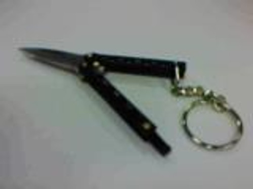 Butterfly Key Chain Knife (BLACK)