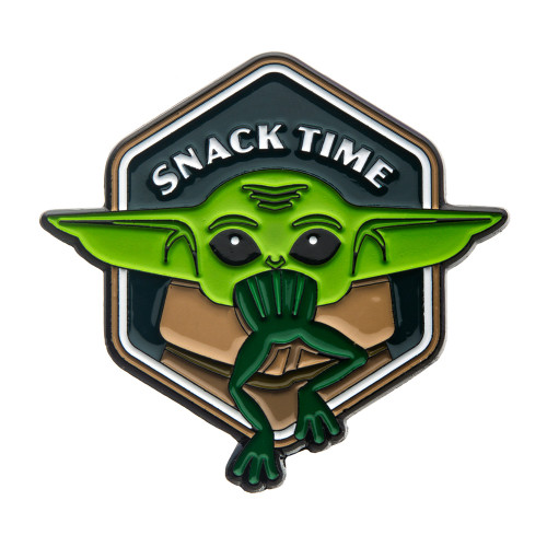 """Star Wars The Mandalorian The Child """"Snack Time"""" Color Lapel Pin"""