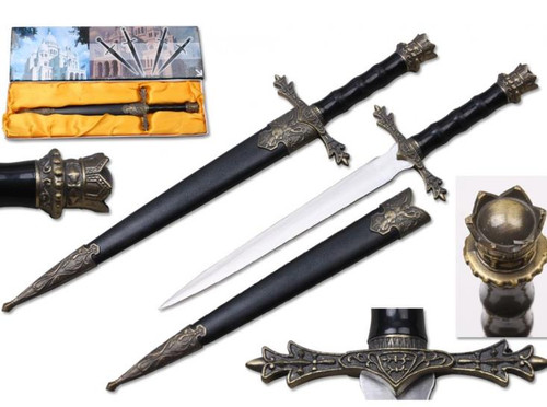 King Arthur Dagger with scabbard 13.5""