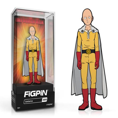 One Punch Man Saitama FiGPiN #389 Enamel Pin