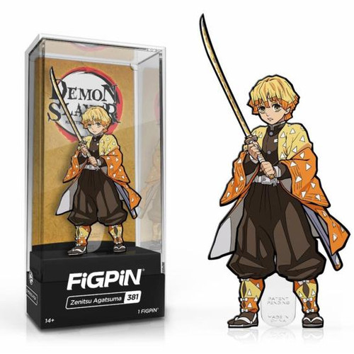 Demon Slayer Zenitsu Agatsuma FiGPiN #381 Enamel Pin