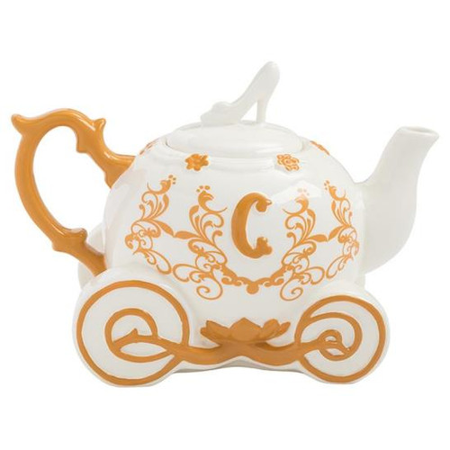 Disney Cinderella Carriage Sculpted Ceramic Teapot