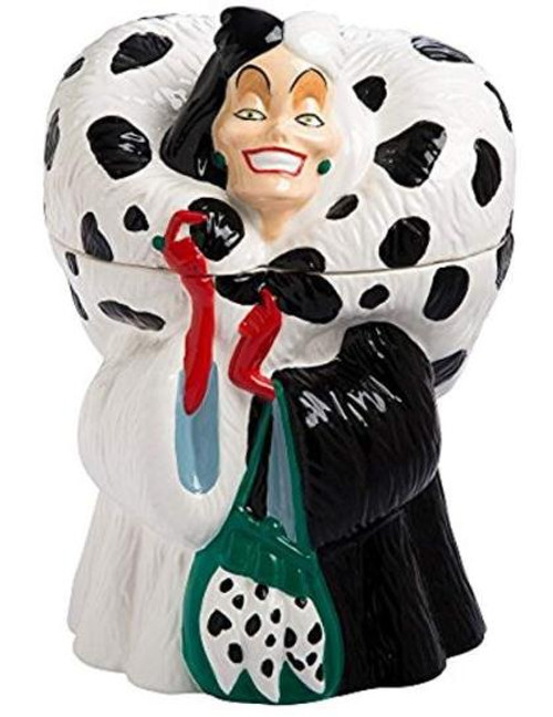 Disney Cruella De Vil Sculpted Ceramic Cookie Jar Canister