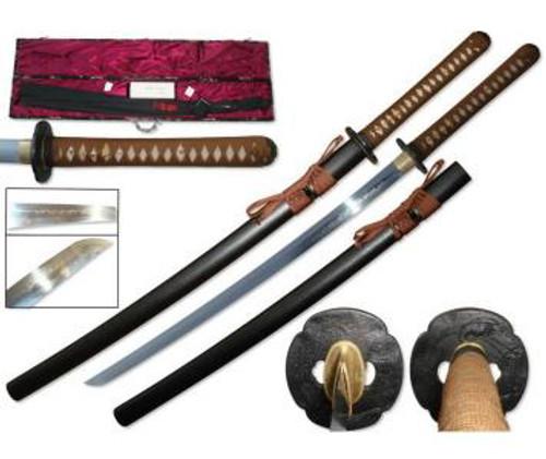 1095 Hand Forged Samurai Sword BK Scabbard (Hira Zukuri Blade)
