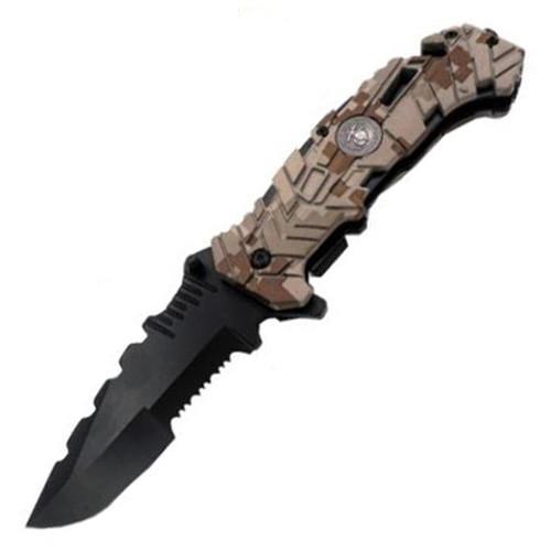 USMC Camo Rescue AO Pocket Knife