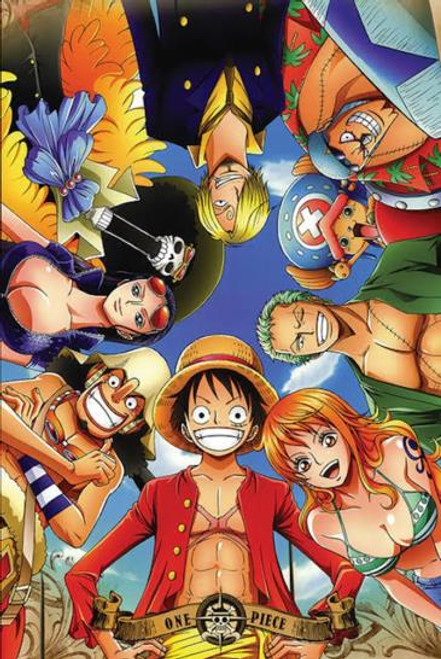 One Piece Circle Anime Poster