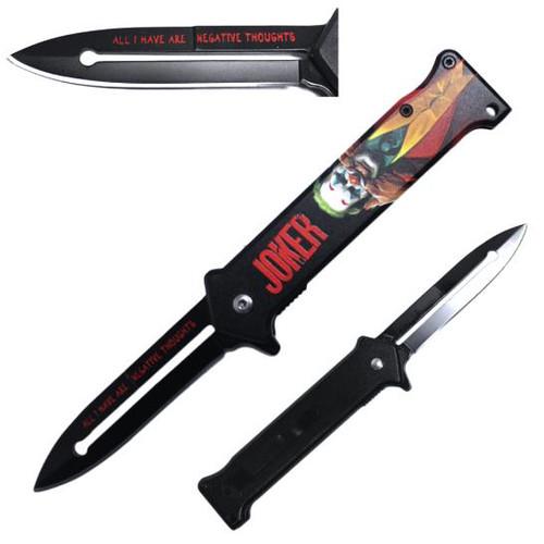 Joker Joaquin Phoenix Metal Handle Pocket Knife