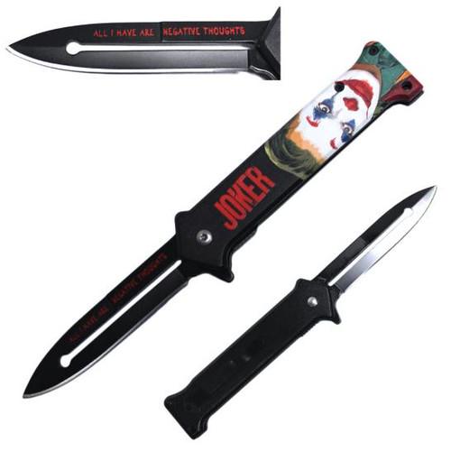 Joker Joaquin Phoenix Color Face Metal Handle Pocket Knife