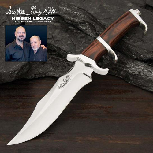 Hibben Legacy III Fighter Fixed Blade Premium Wooden Handle