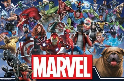 Marvel Universe Cartoon Poster