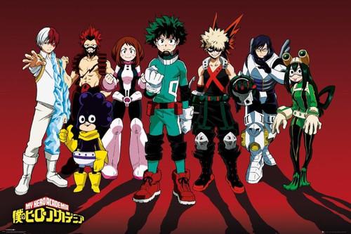 My Hero Academia Lineup Anime Poster