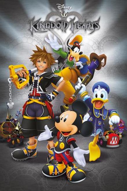 Kingdom Hearts Cast Cartoon Poster