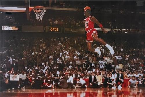 Michael Jordan Dunk Sports Poster