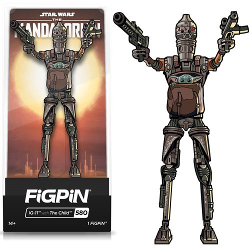 The Mandalorian IG-11 w/ The Child FiGPiN #580 Enamel Pin