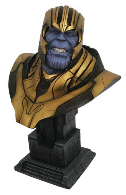 """LEGENDS IN 3D THANOS MARVEL """"AVENGERS 4"""" 1/2 SCALE BUST"""