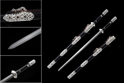 """42"""" Tang Dynasty Chinese Sword 75Mn Spring Steel Hand Forge"""