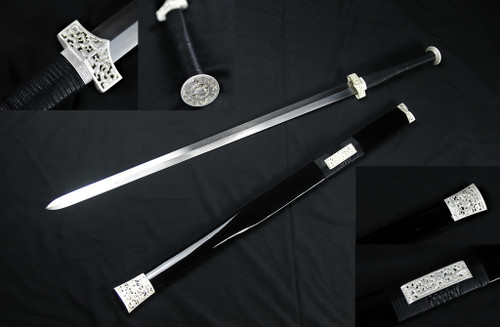 """42"""" Han Dynasty Chinese Sword 75Mn Spring Steel Hand Forge"""